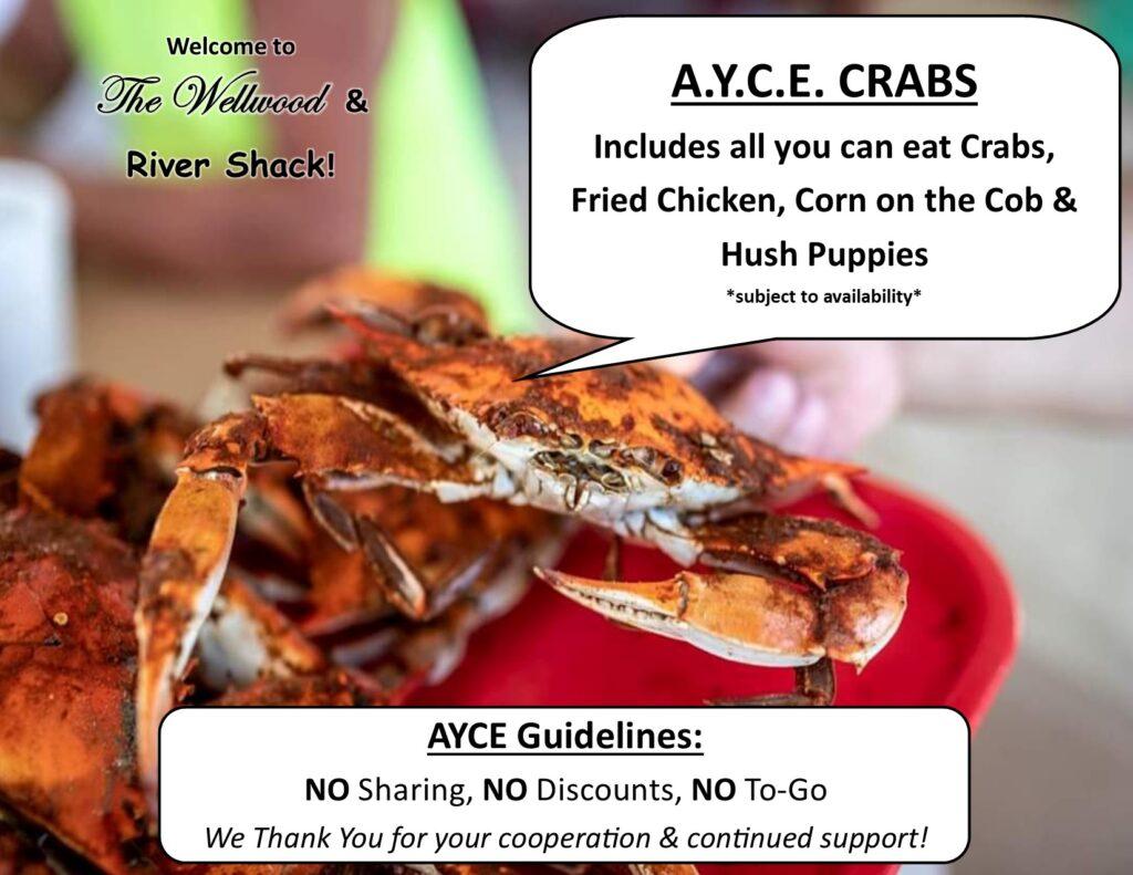 AYCE crabs promo